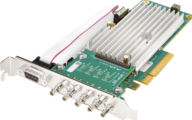 8-lane PCIe 2.0, 8 x SDI, Fanless Version with No Cables