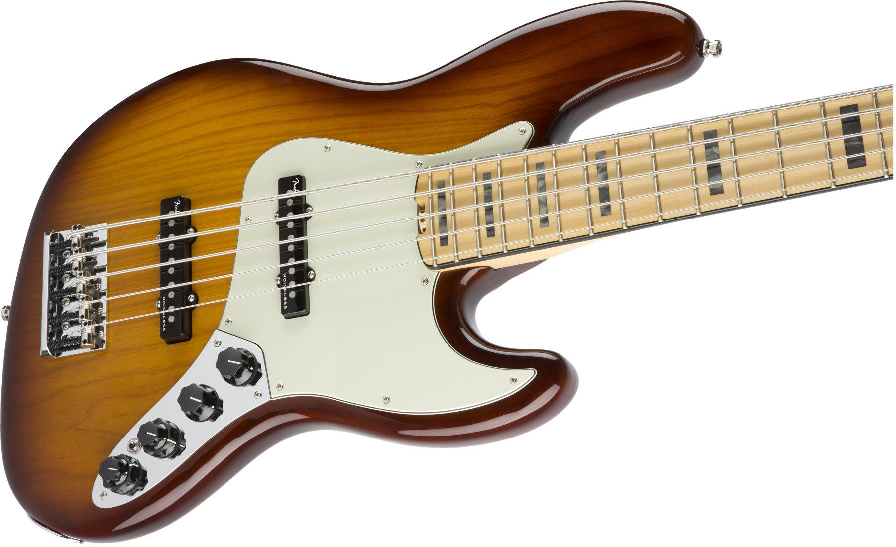 Jazz Bass Guitar with Ash Body and Maple Fingerboard