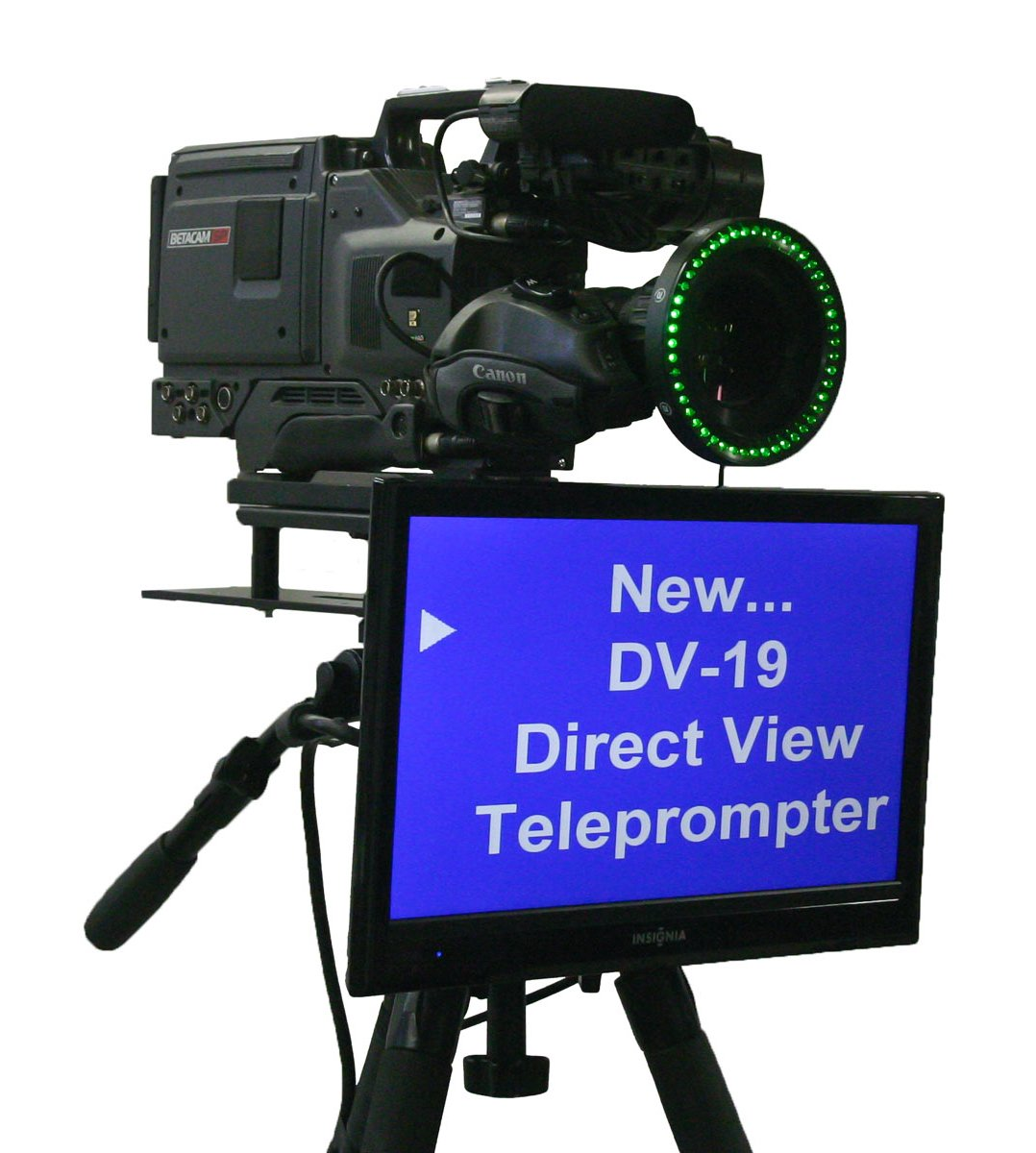 "19"" Direct View Teleprompter LCD Monitor with Prompting Software"