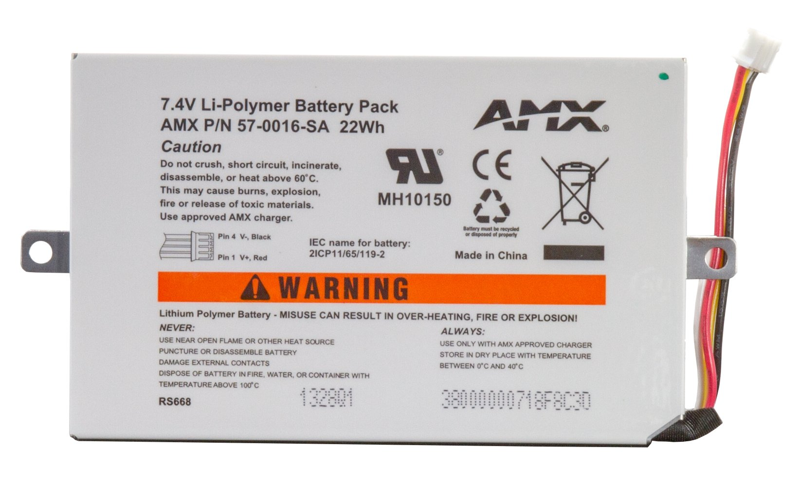 Battery Pack for MVP-5200i & MVP-5100/5150 Modero ViewPoint Touch Panels