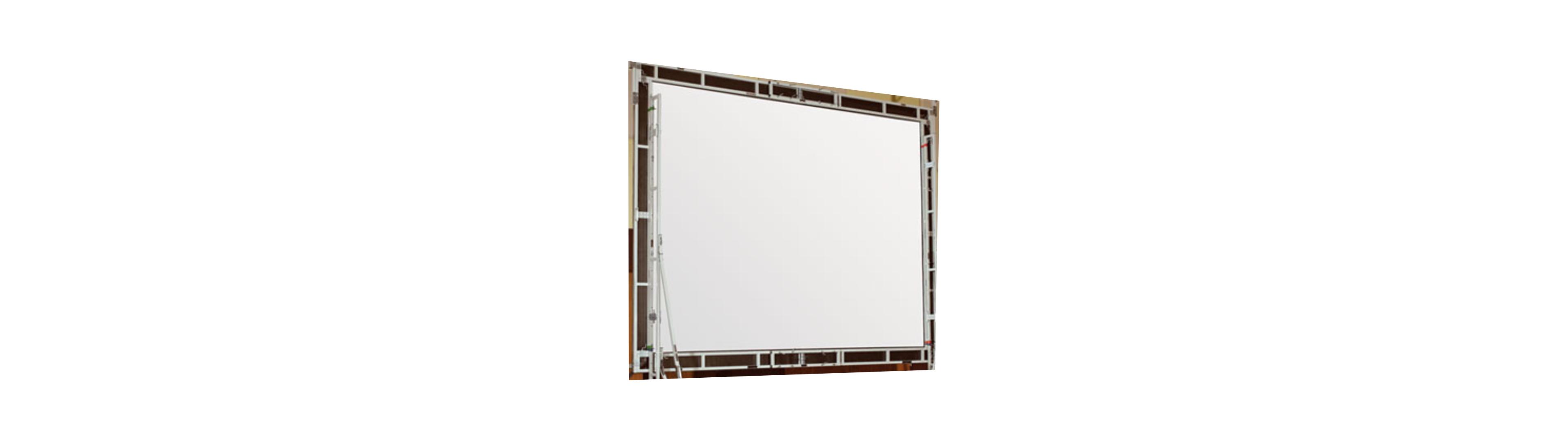 """18' 4"""" HDTV, Matt White Truss-Style Cinefold Surface"""