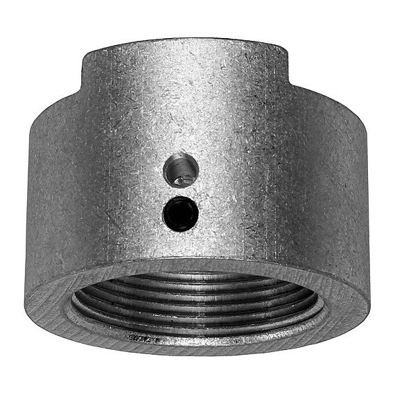 "Pipe to Coupler Adapter for 1.5"" Pipe, with Silver Finish"