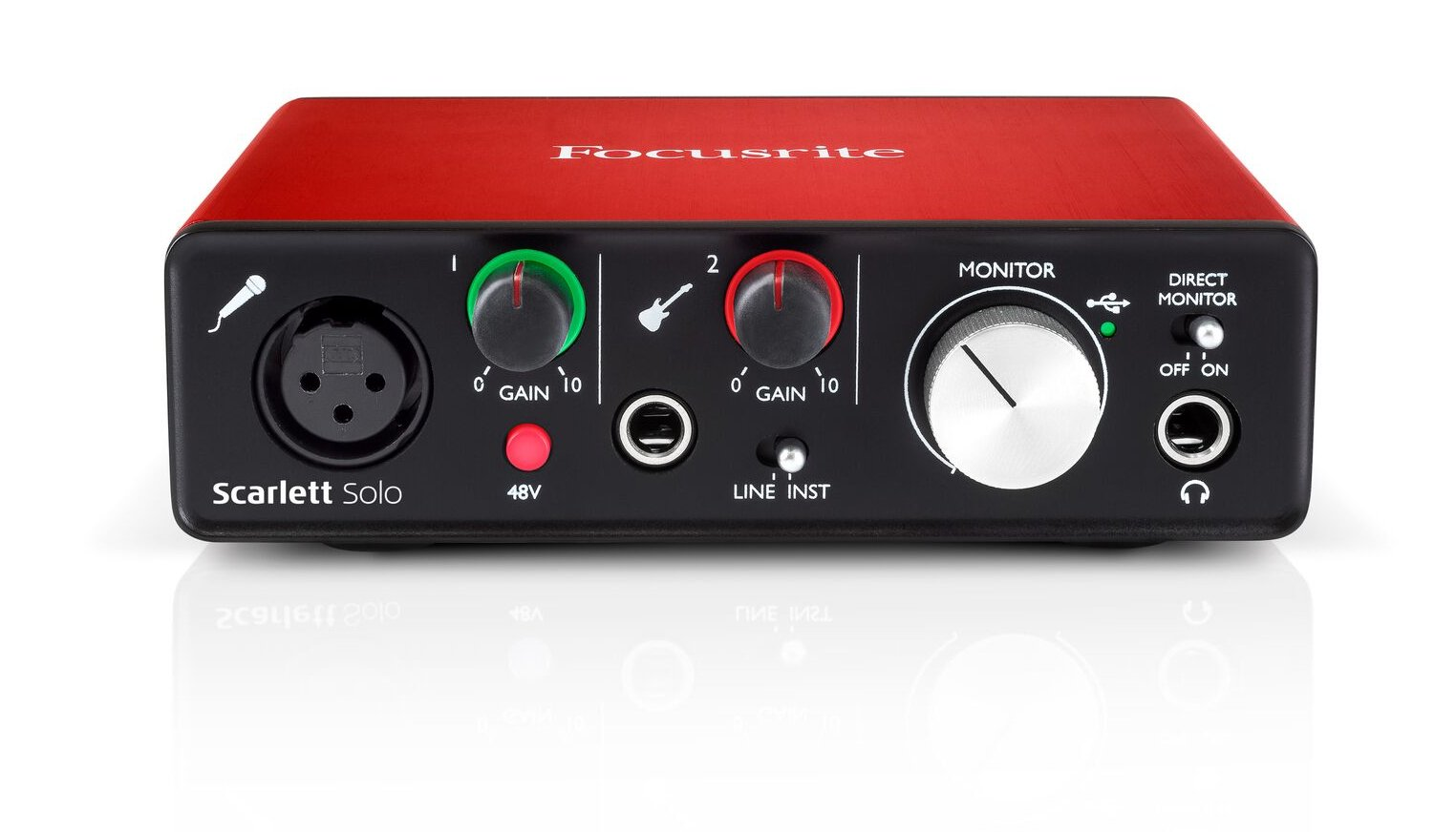 focusrite scarlett solo v2 2x2 usb audio interface with single micrphone preamp 2nd generation. Black Bedroom Furniture Sets. Home Design Ideas