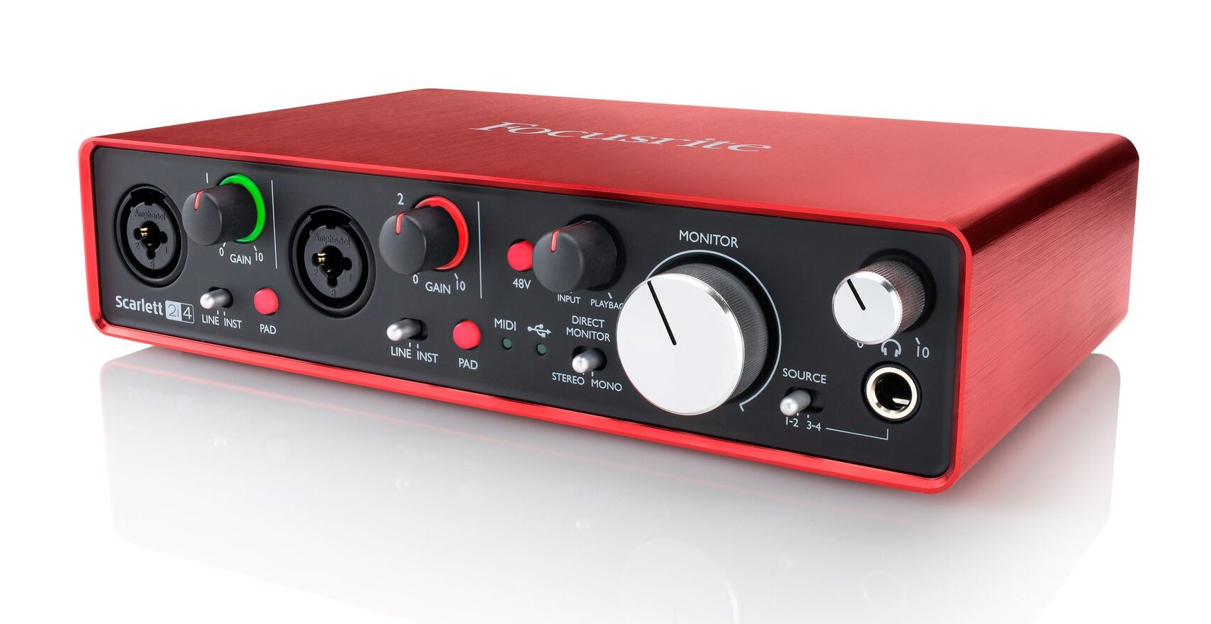 2x4 USB 2.0 Audio Interface