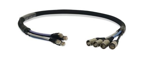 25 ft 4-Channel CAT5e Ethernet Snake