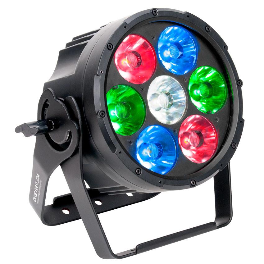 7x 15 Watt RGBW Quad LED ACL Par Light