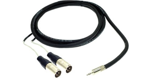 6 ft. Excellines 3.5mm TRS-M to (2) XLR-M Sound Card Cable