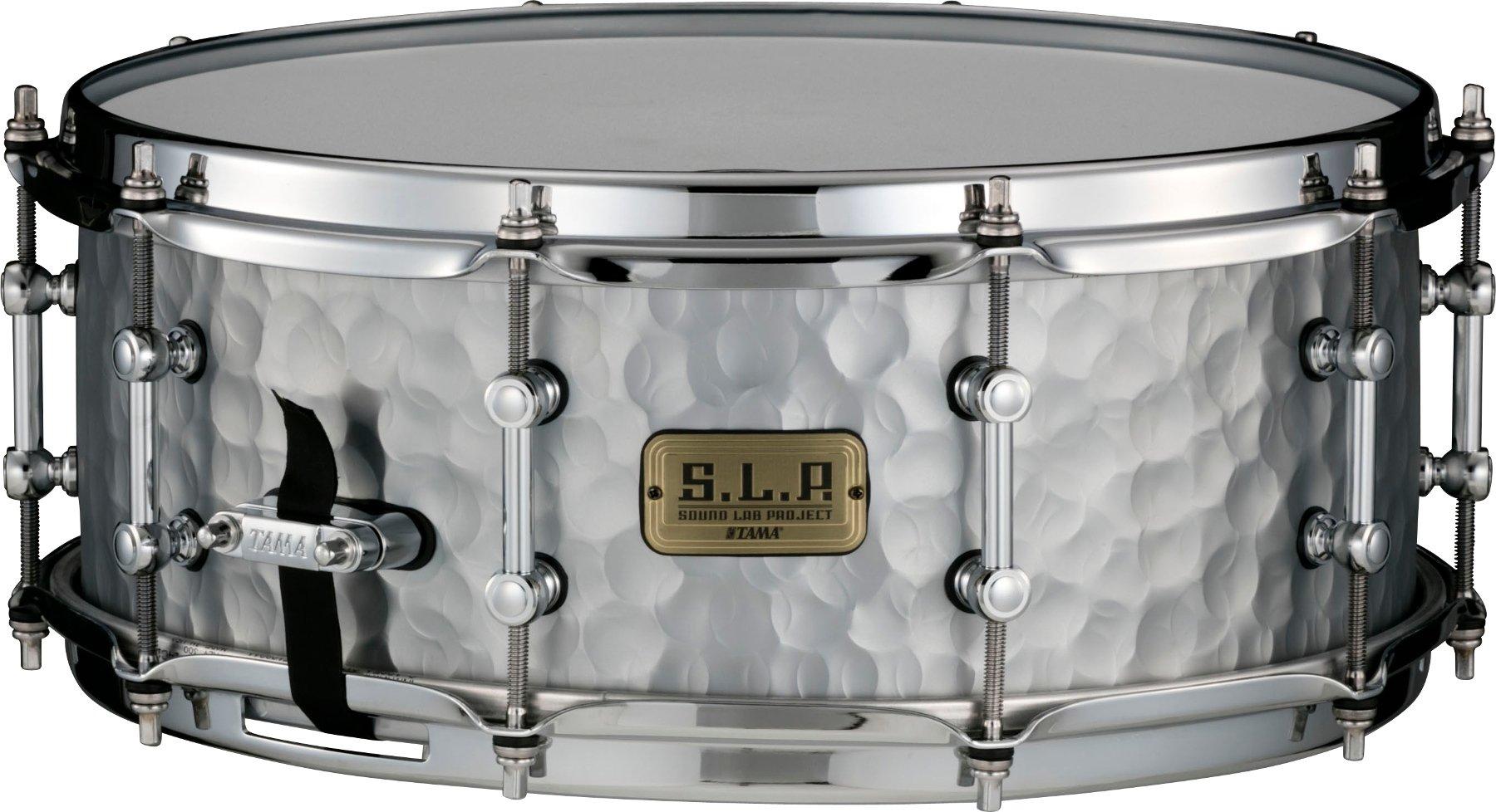 "Vintage Hammered Steel Snare Drum, 5.5""x14"""