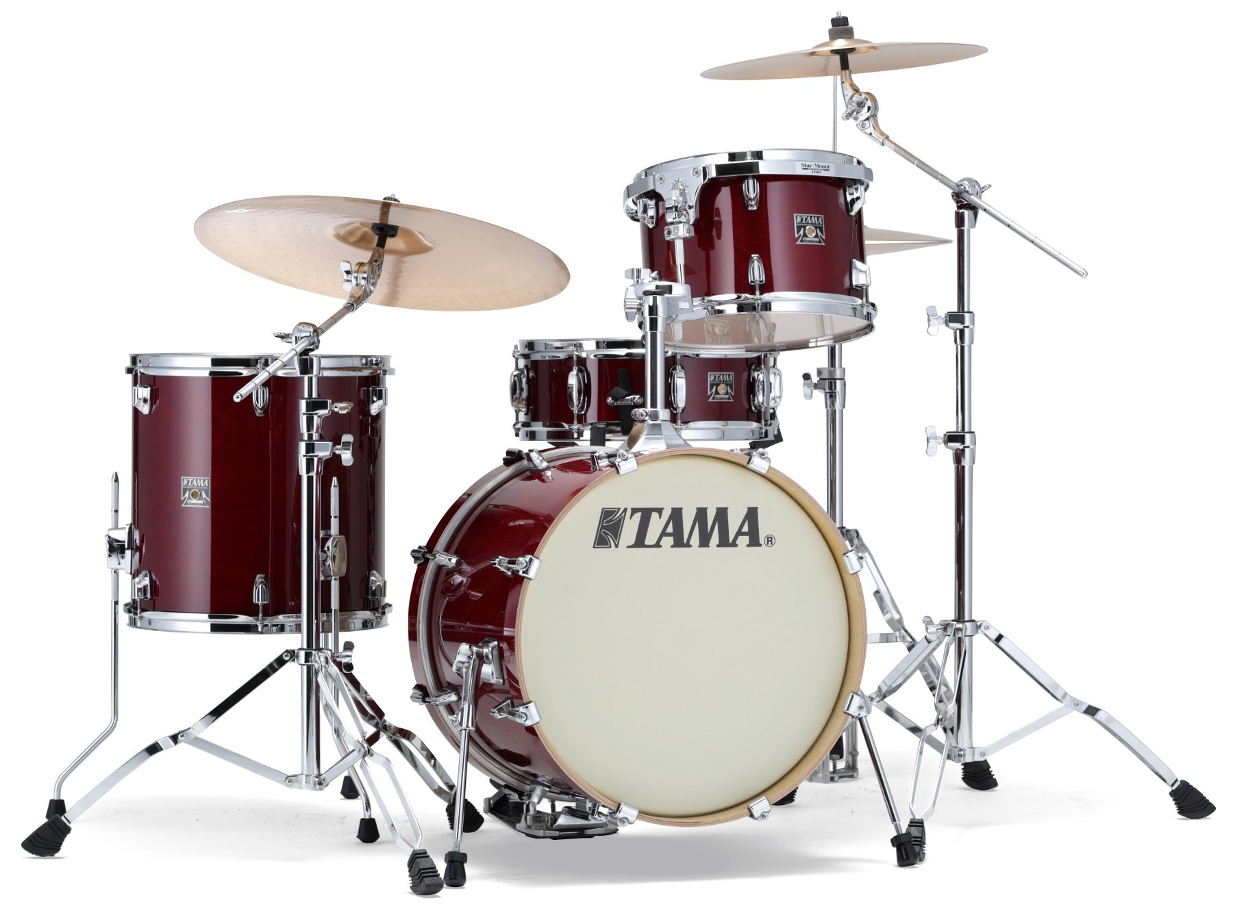 """Superstar Classic 4-Piece Kit with 18"""" Bass Drum, Classic Cherry White Finish"""