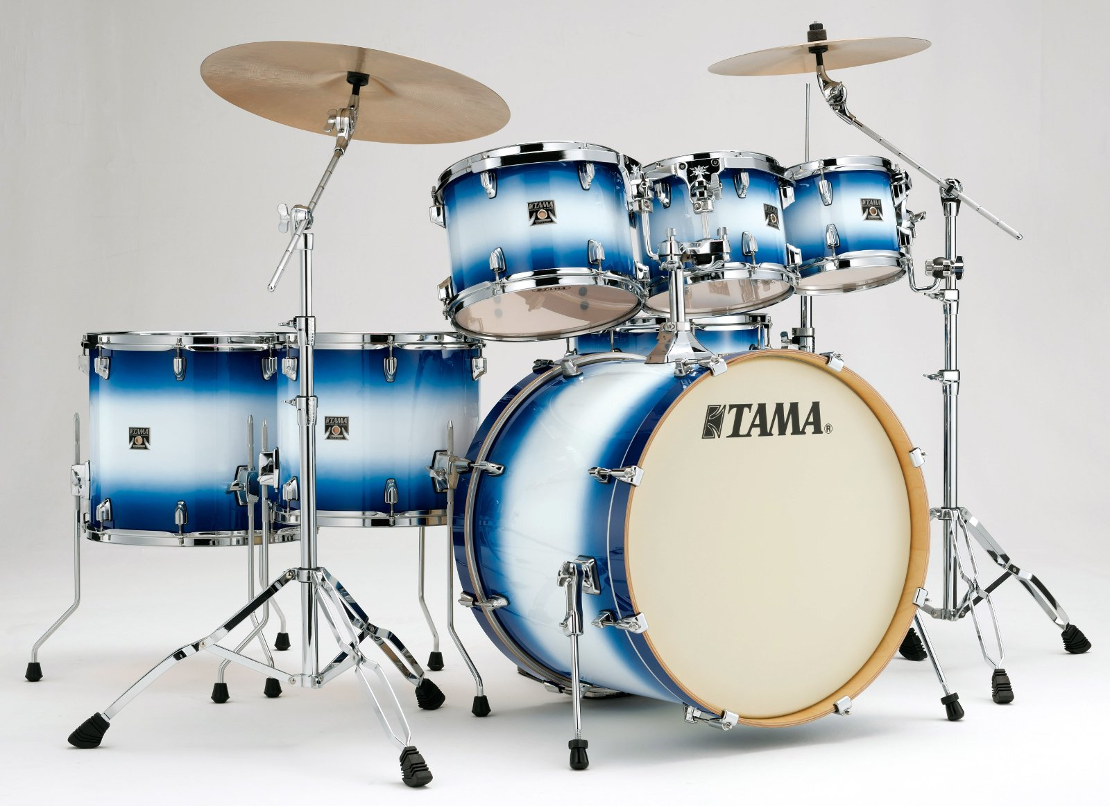 """7-Piece Superstar Classic Shell Pack with 22"""" Bass Drum, Jet Blue Burst Finish"""