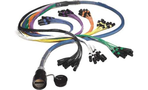 15 ft 28 Channel FM Series Inline Multipin/Fanout Snake with W6IRP(O) Multipin Connector, XLR-F Returns