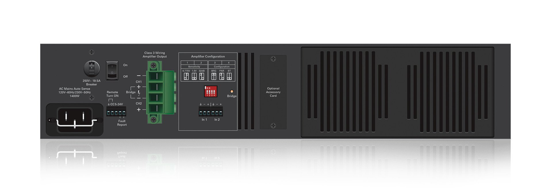 3200 W High Performance, Dual Channel Commercial Amplifier