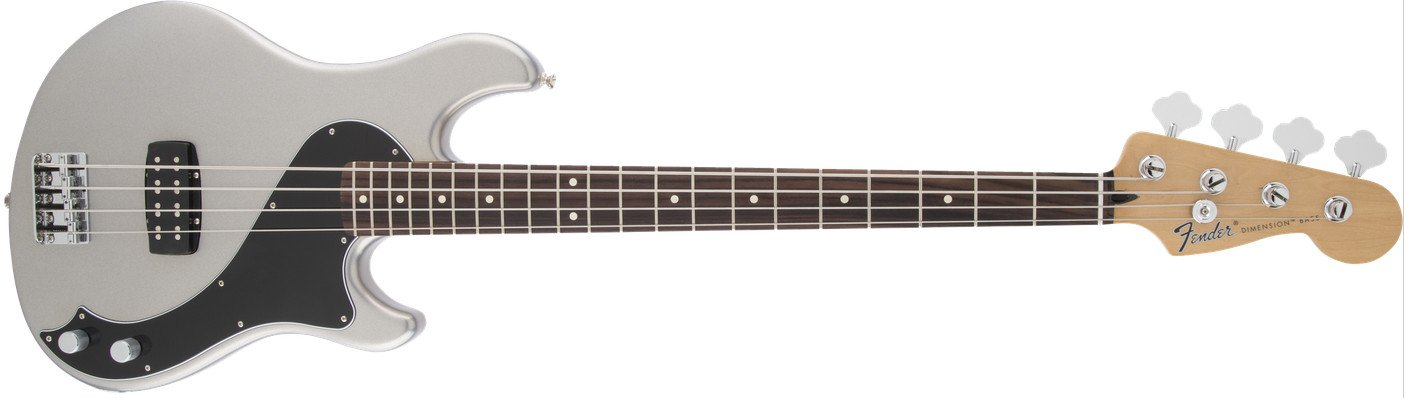 Ghost Silver Electric Bass