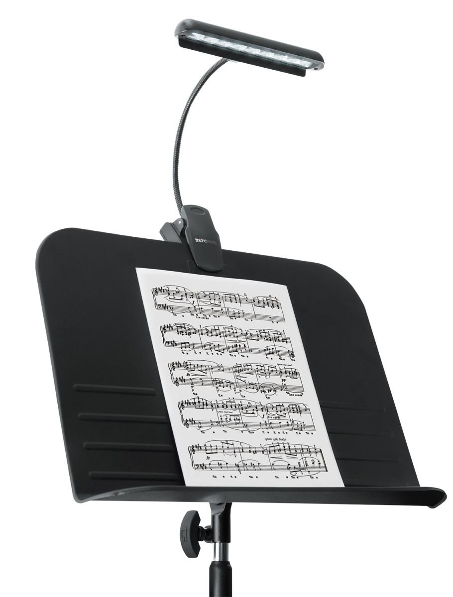 Frameworks Clip-on LED Music Lamp with Adjustable Neck