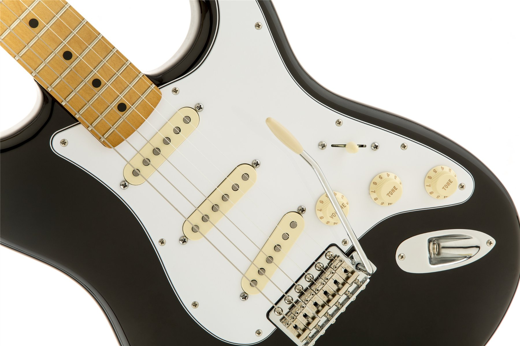 Special Edition Electric Guitar in Black with Reverse Headstock and American Vintage '65 SSS Pickup Configuration