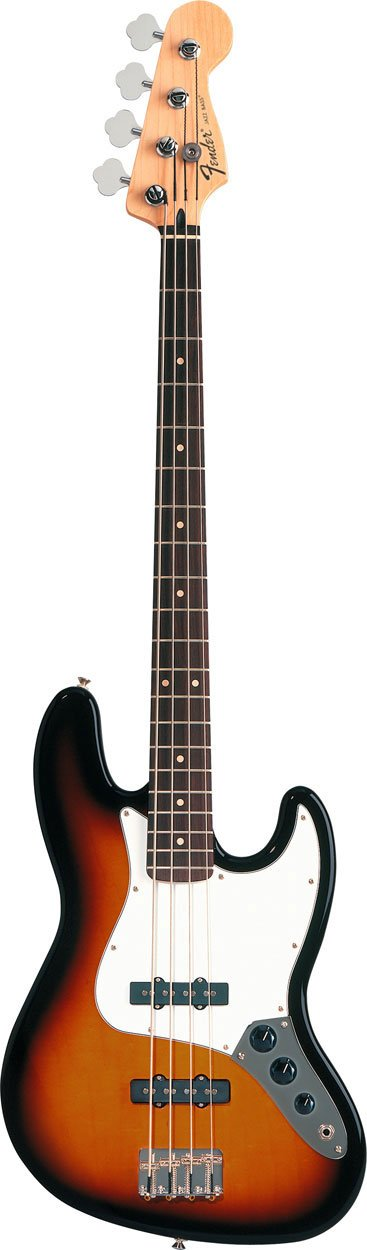 Electric Bass with Single-Coil Pickups in Brown Sunburst Finish