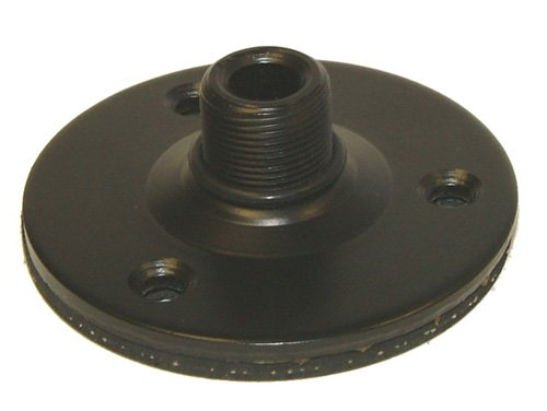 Large Diameter Podium Mounting Flange, Black