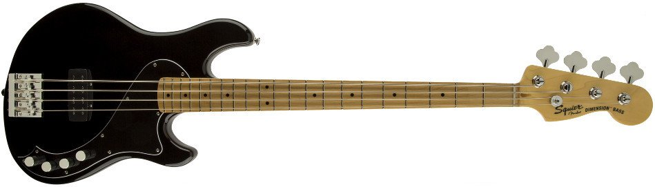 Black 4-String Electric Bass