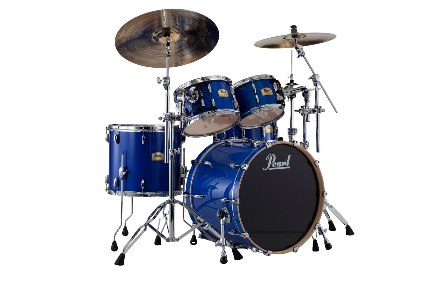 Pearl Drums SSC924XUP/C/113 4-Piece Session Studio Classic Shell Pack, Sheer Blue Finish SSC924XUP/C/113