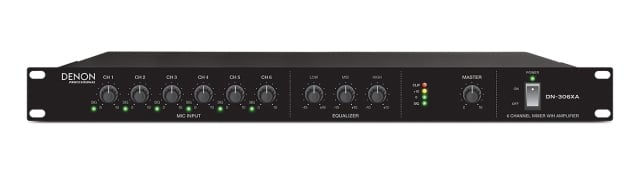 6-Channel Mixer with Amplifier