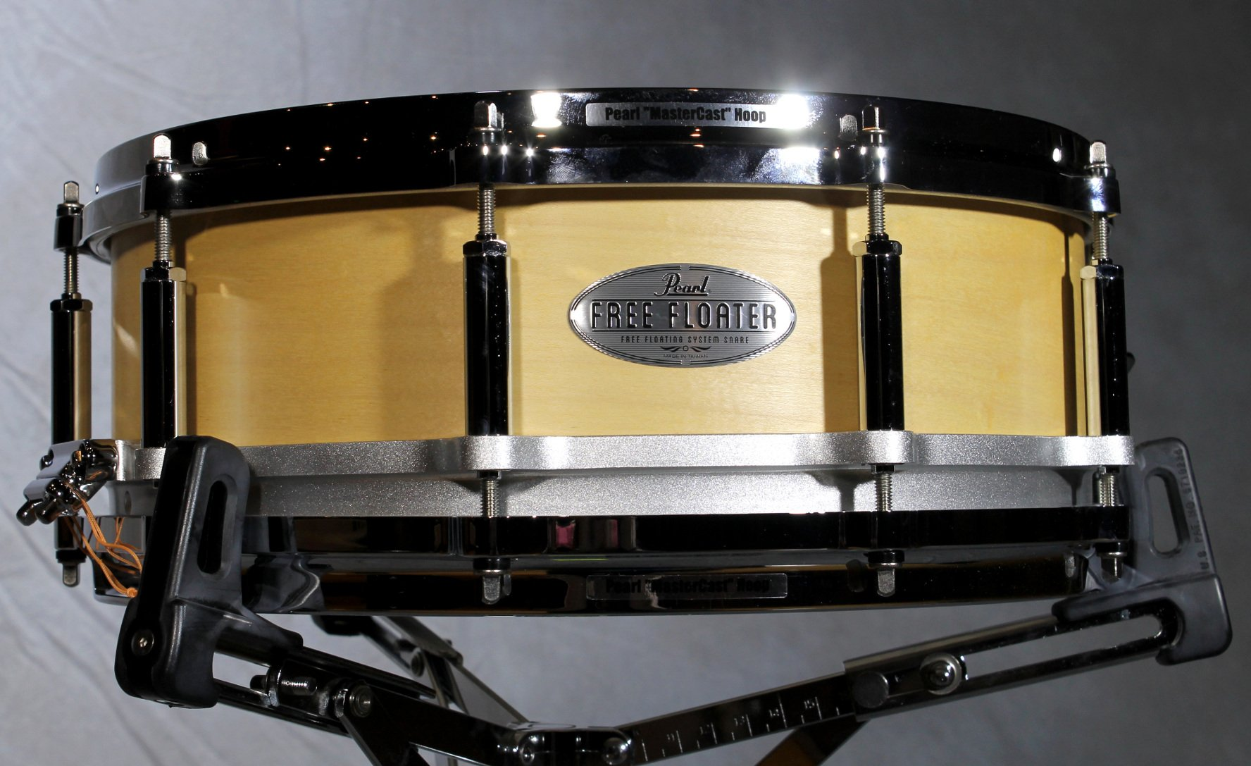 """Free Floating 14""""x5"""" Snare Drum, Natural Maple"""