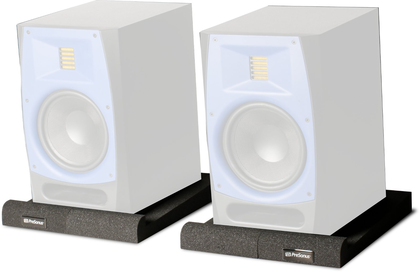 """Pair of 2-Way, 6.5"""", AMT Active Studio Monitors with FREE Pair of Isolation Pads"""