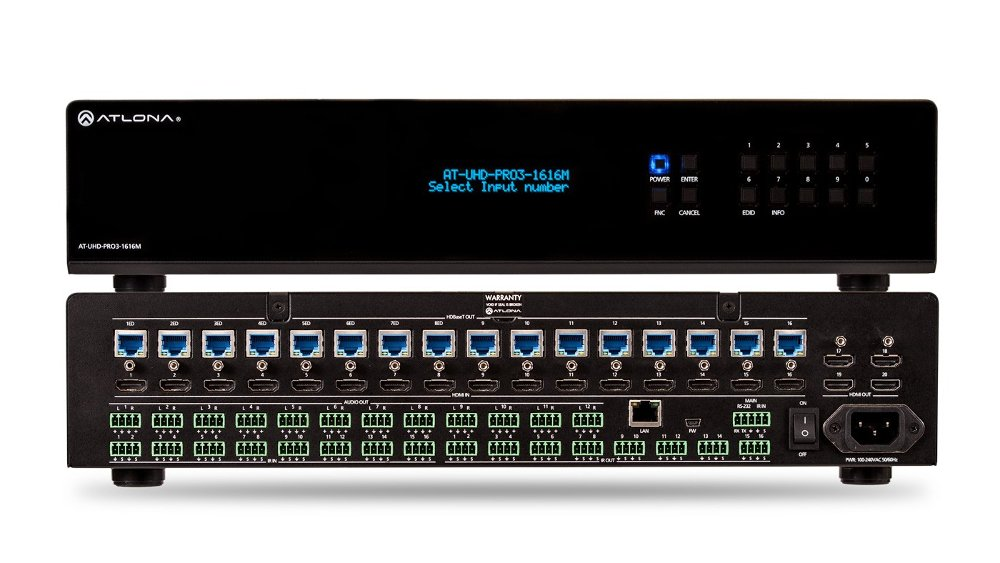 4K/UHD Dual-Distance 16×16 HDMI To HDBaseT Matrix Switcher