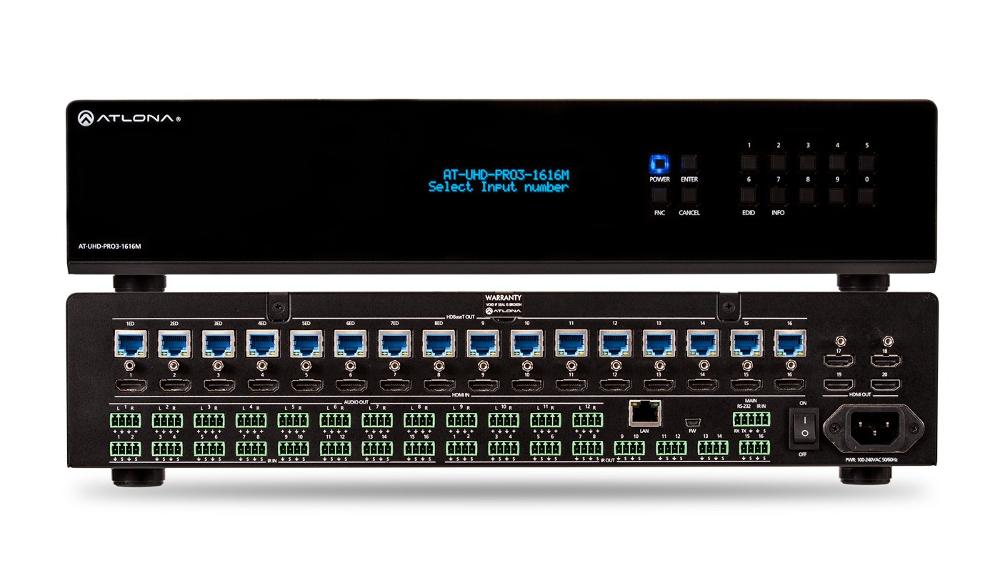 4K/UHD Dual-Distance 16×16 HDMI To HDBaseT Matrix Switcher