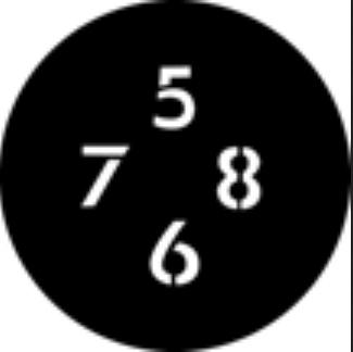 Numbers B Steel GAM Gobo