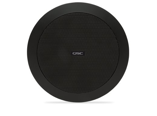 QSC AD-C4T Ceiling Speaker, 70/100V, Black, Sold In Pairs AD-C4T-BK