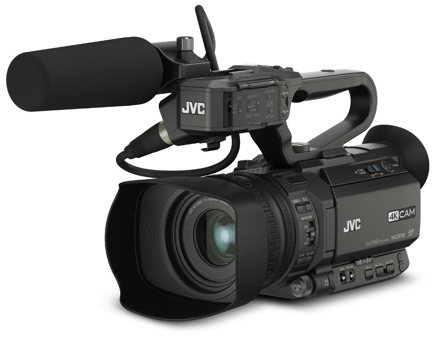 4KCAM Compact Handheld Camcorder with Integrated 12x Lens and Free Mic