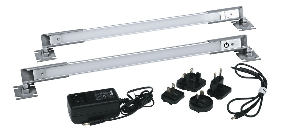 (2) Rackmount LED Work Lights with Interconnect Cable