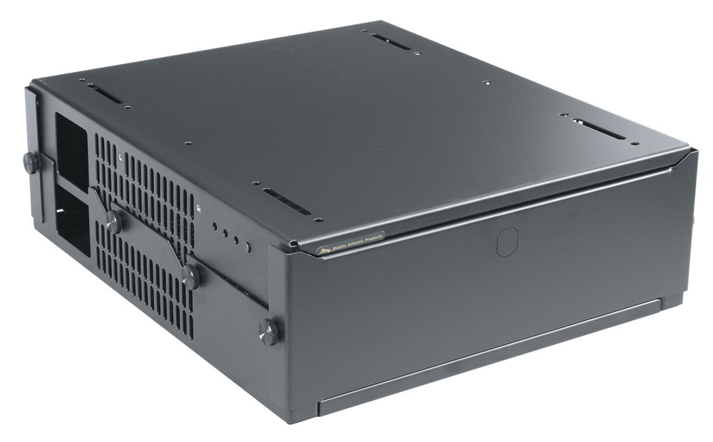 Low-Profile Height-Adjustable Surface Mount Rack, Half-Rack Version