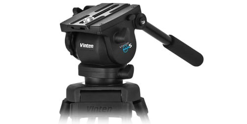 Vision blue5 2 Stage Tripod Kit with Fluid Head, Floor Spreader, Soft Case
