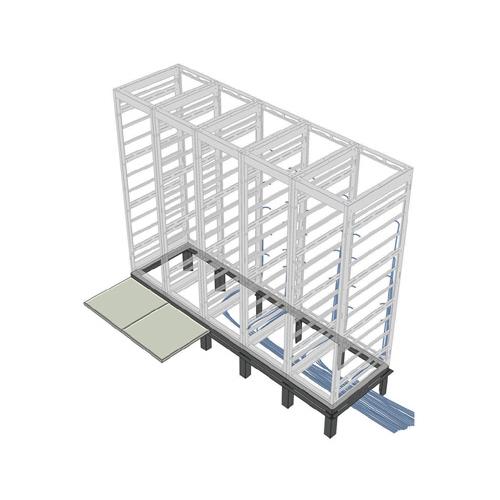 """5-Bay Riser Base for MRK Series 26"""" Deep Racks"""