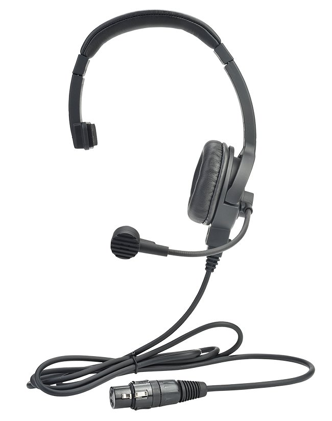 Lightweight Single-Ear Headset 4-Pin Female XLR