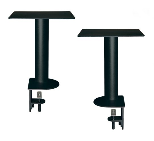 "Pair Speaker Mounts w/ApertaS Platform, Flex Mount Clamp in Black (13.78"")"