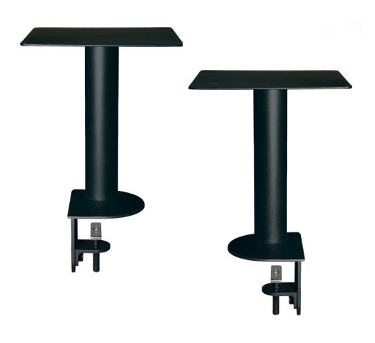 "Pair Speaker Mounts w/ApertaS Platform, Flex Mount Clamp in Black (13.78"")"