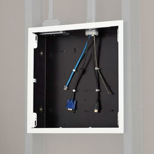 Large In-Wall Storage Box with White Flange