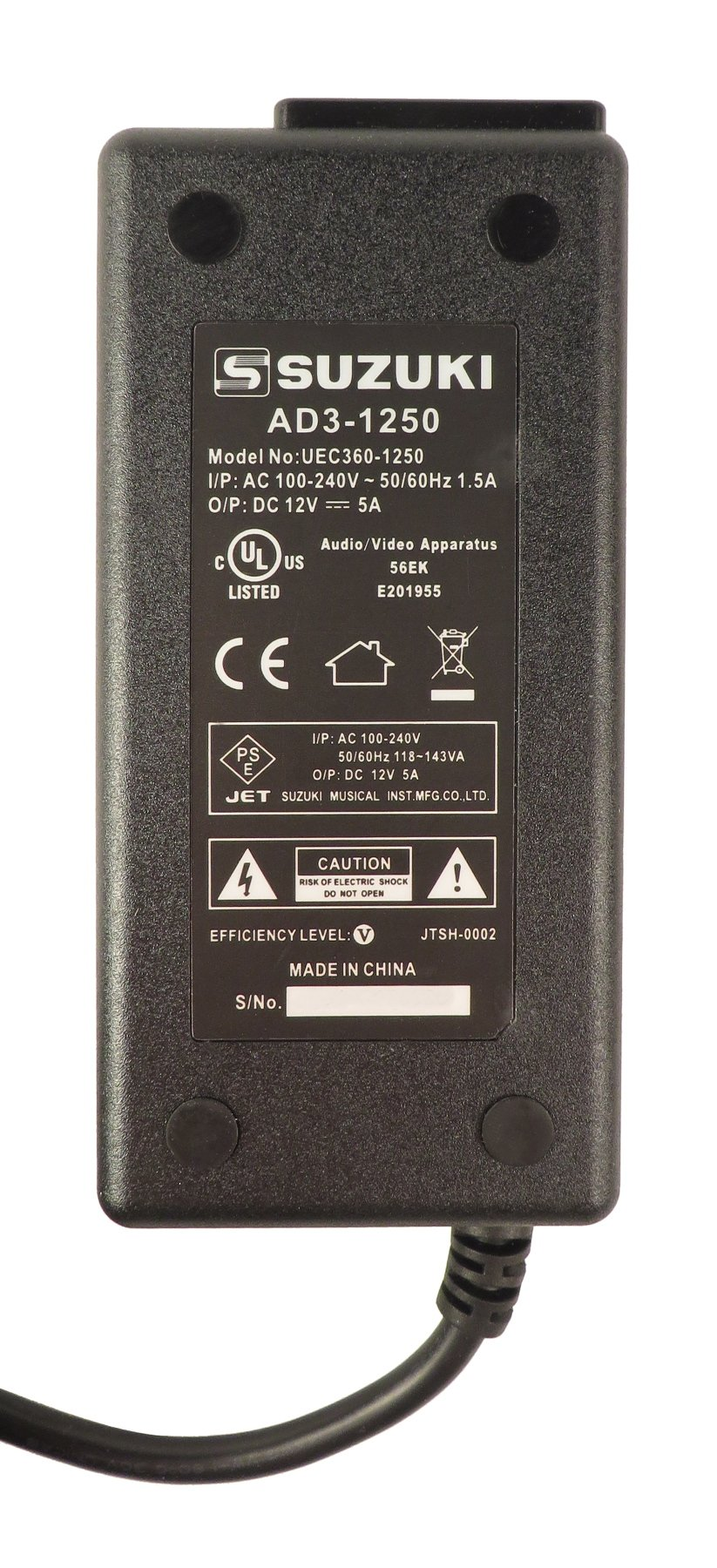 Hammond Suzuki USA Inc 007-AD3-1250 AC Adaptor for SK2 007-AD3-1250