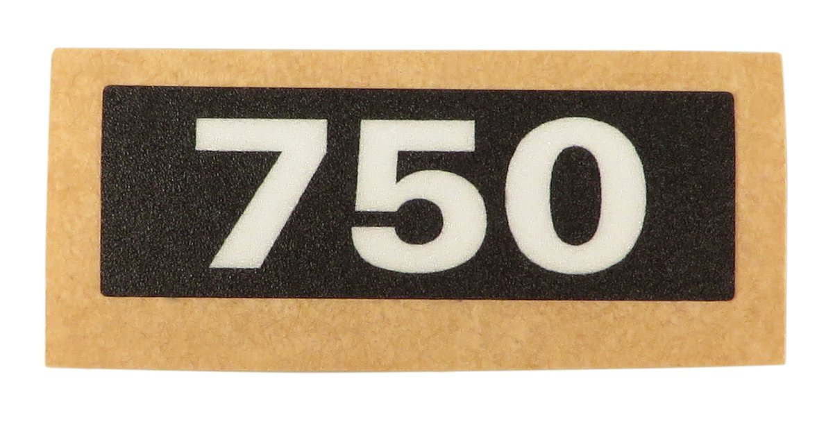 750W Black Handle Label
