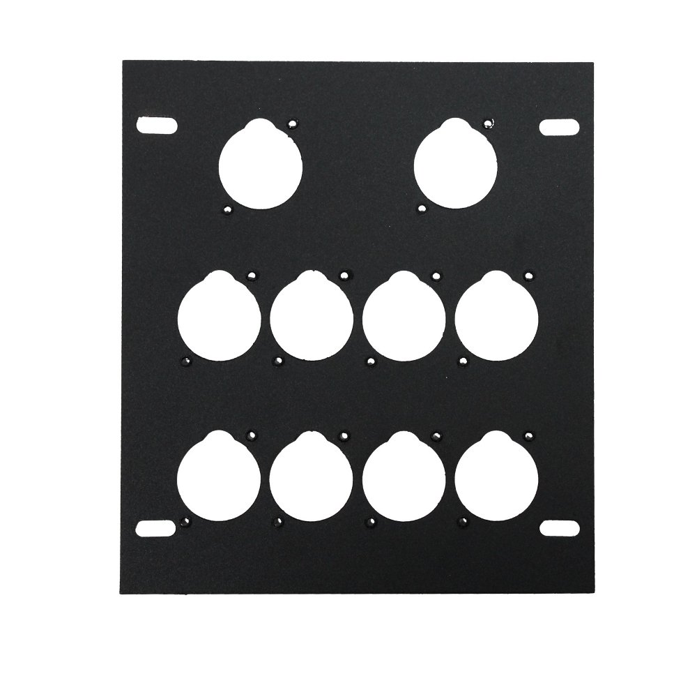 Unloaded Plate for Recessed Floor Box, 10 Mounting Holes