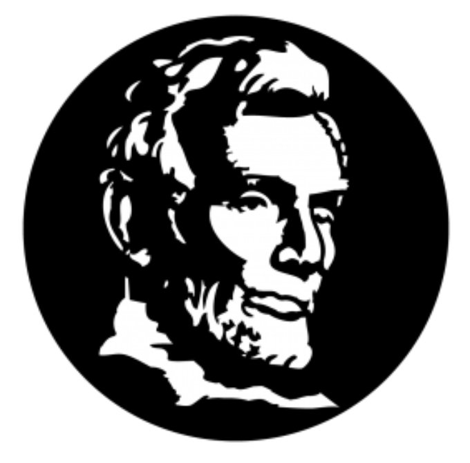 Abe Lincoln Steel Gobo