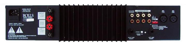 70V, 100W per Channel Mixer/Amplifier