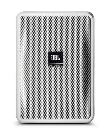 Ultra-Compact Indoor/Outdoor Background/Foreground Low-Impedance Speaker, White, Priced Each/Sold in Pairs