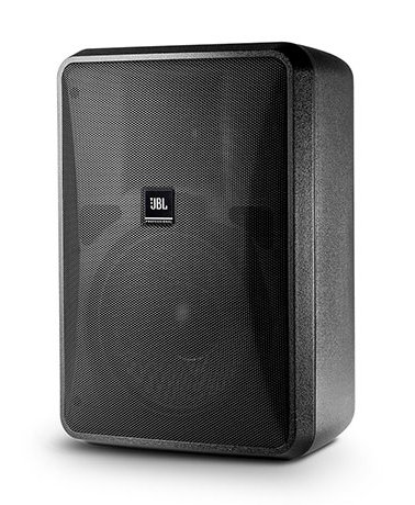 "High Output Indoor/Outdoor, Background/Foreground, Two-Way Vented, Low Impedance Loudspeaker, 8"", Black"