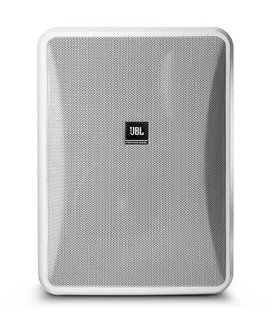 High Output Indoor/Outdoor, Background/Foreground Low Impedance Speaker, White, Sold In Pairs