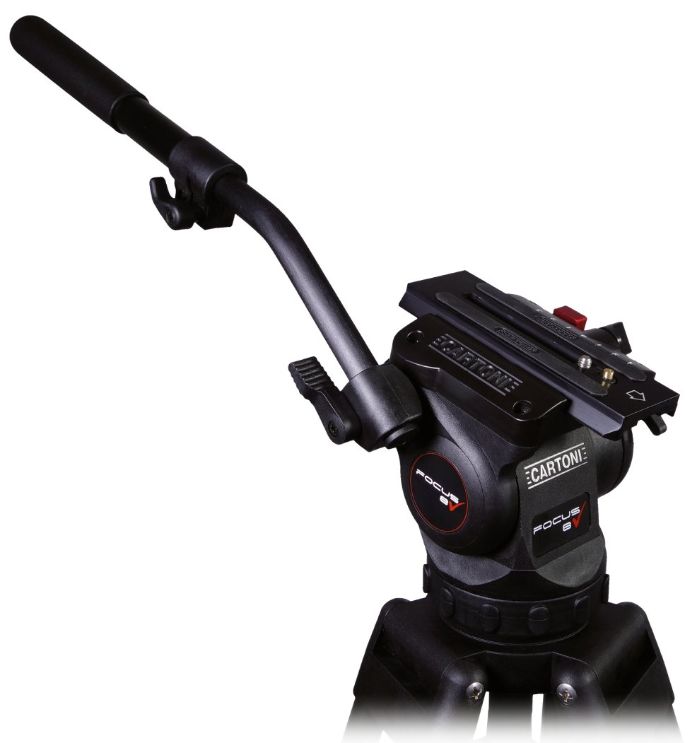 FOCUS 8 Head with Long Style Sliding Plate, Stabilo Tripod, Pan Bar, and Soft Case
