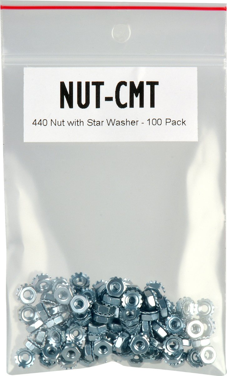 Connectronics 440 Nut with Star Washer - 100 Pack