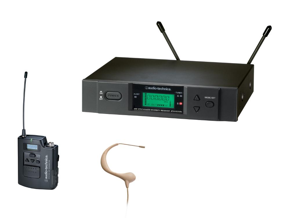 Audio-Technica ATW-3194B-TH Wireless Headset Sys Theater model, Beige ATW-3194B-TH